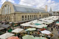 The Riga City Festival in the  Medieval market
