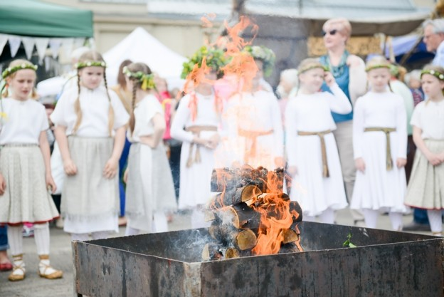 Midsummer fair and summer solstice concert at the Riga Central Market