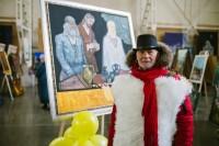 """Atskats uz mākslinieka Jāņa Anmaņa personālizstādes """"Gaismas ceļš"""" atklāšanu"""