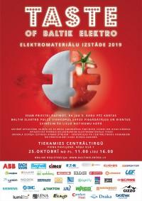 """25. oktobrī Piena paviljonā norisināsies izstāde """"Taste of Baltik Elektro"""""""